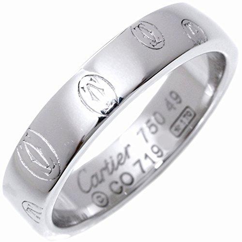 [カルティエ]Cartier K18WG ハッピーバースデーリングSM(ロゴカルティエ) 指輪 #49(9号) B40509 中古