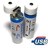桜beauty life USB16850充電式電池 本体USB付き 充電器不要 18650リチウム充電式電池(3.7V 1300mAh)プロテクト機能/保護回路付き MSDS、CE、ROHS、FC認証取得済み (2本セット)