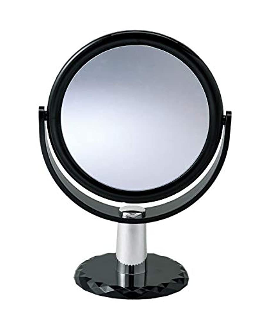 リスナーばか路面電車10倍拡大鏡付きの2面ミラー 卓上 スタンドミラー 化粧鏡 メイク 360度回転