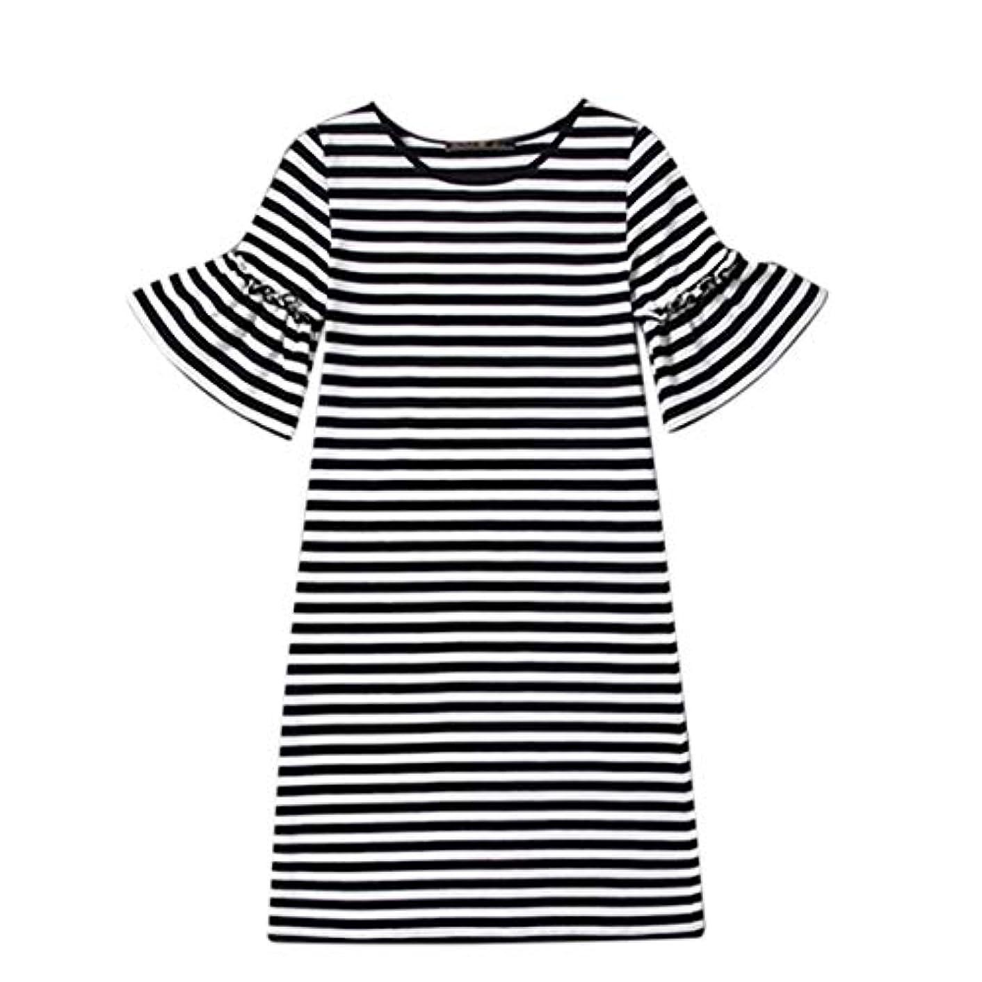 欲しいです論争的滅多Blackfell 女性のドレス半袖長袖のスカートスリムTシャツスカート