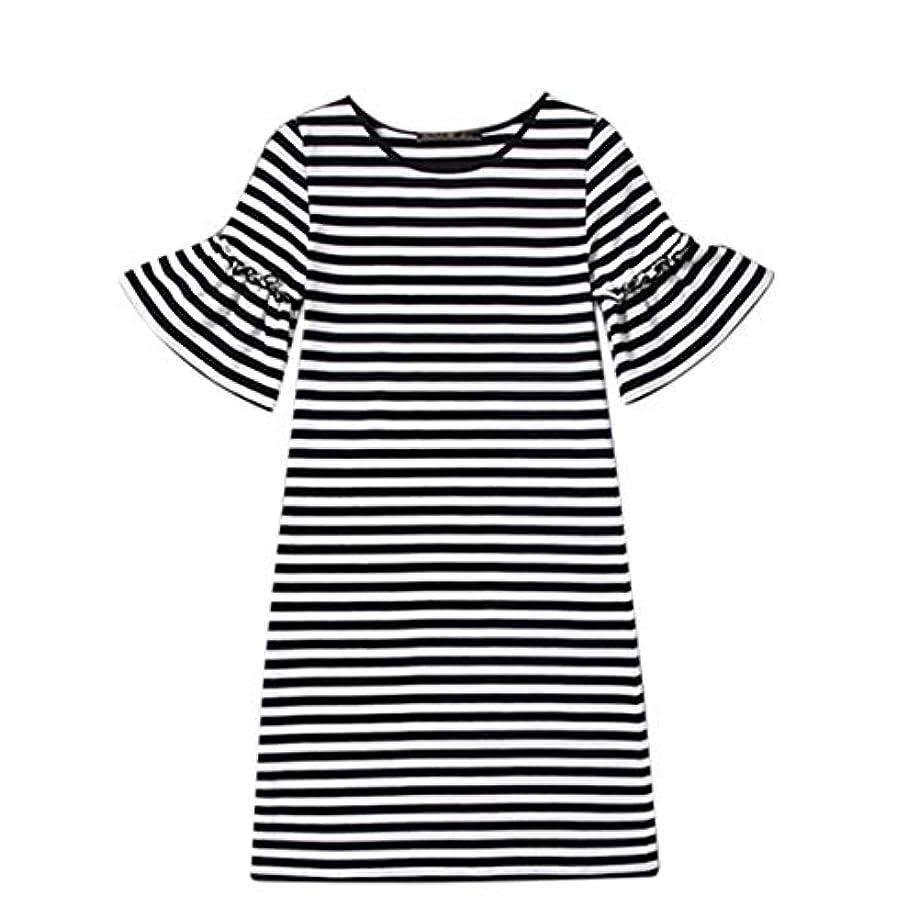 ジョイントかなり打ち負かすBlackfell 女性のドレス半袖長袖のスカートスリムTシャツスカート