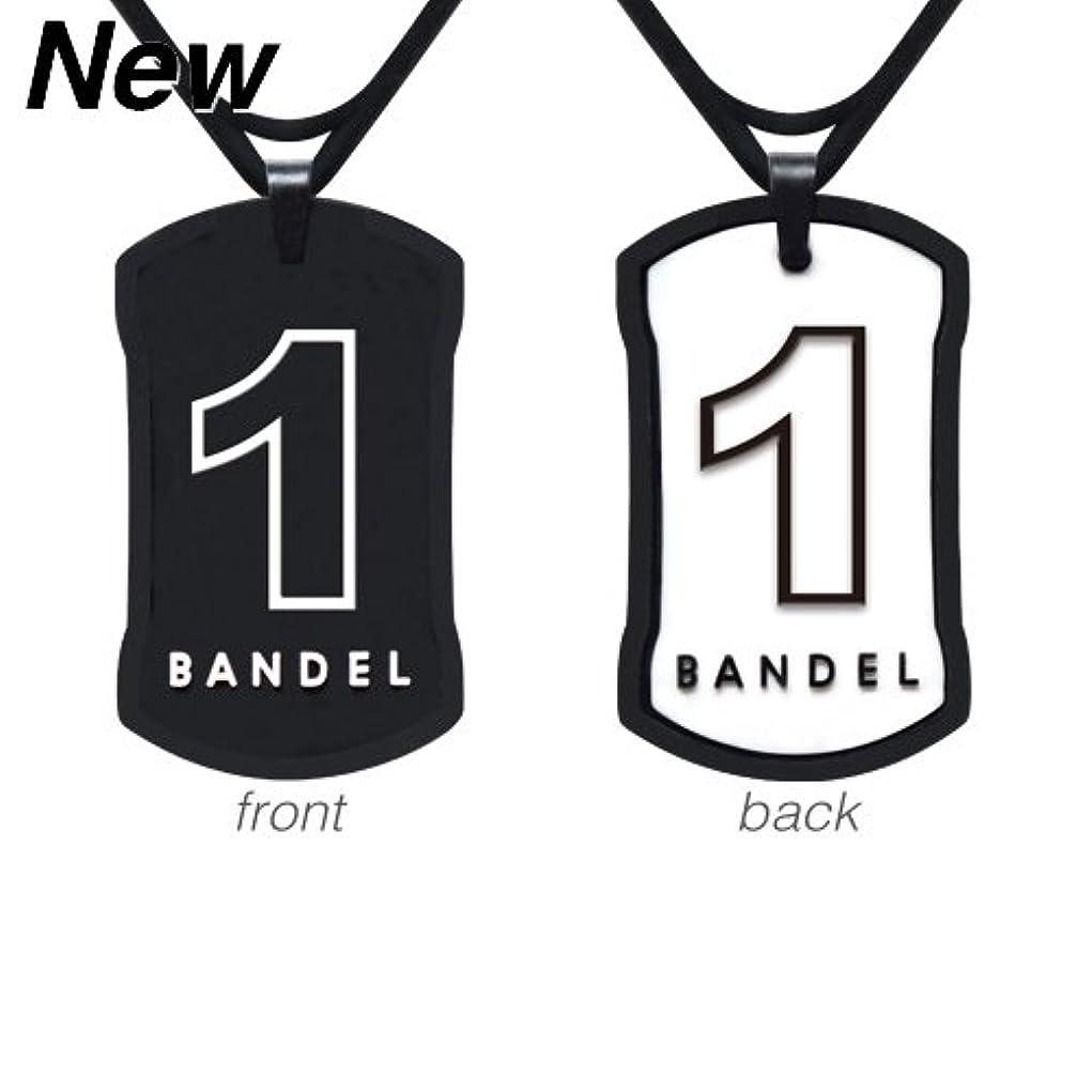 化合物右挑む[バンデル?BANDEL]ナンバーネックレス リバーシブルNo.1(ブラック?ホワイト)60cm(縦40mm横24mm)【正規品】