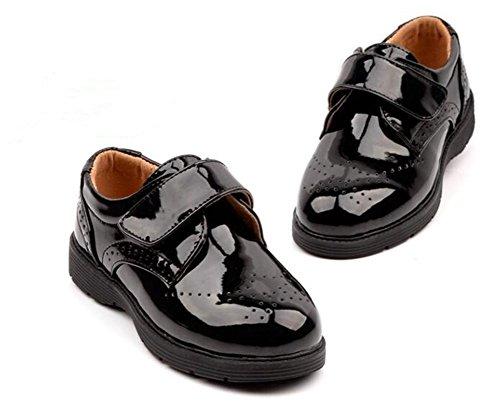 b349994d82f98 子供 靴 フォーマル シューズ オックスフォード 男の子 A  37 23.5cm  エナメルの光沢が足もとを華やかに演出、オックスフォード型のシンプルなデザインが品のよい ...