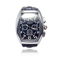 アンティークアナログ腕時計 メンズ レディース 兼用 ウォッチ 防水 ビジネス カジュアル オリジナル時計ボックス セット [Nexus] (ブラック)