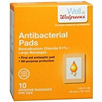 Walgreens Antibiotic Adhesive Pads, 3in x 4in, 10 ea by Walgreens