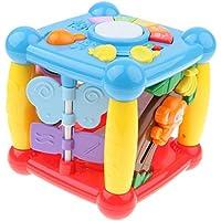 KESOTO 6in1 5面キューブ  認知ブロック カラー&シェイプ認識 光とサウンド 教育玩具 贈り物