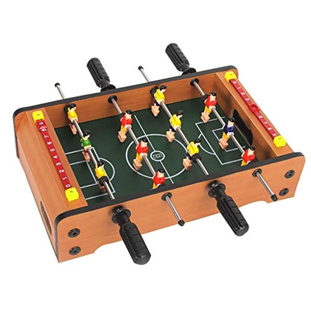 単にブリーク資格情報サッカーテーブルフーズボールテーブルテーブルゲームビリヤードテーブルサッカーゲーム減圧小道具パズルゲーム4歳以上に適した子供のためのギフト (Color : WOOD COLOR, Size : 36.5*21.5*9CM)