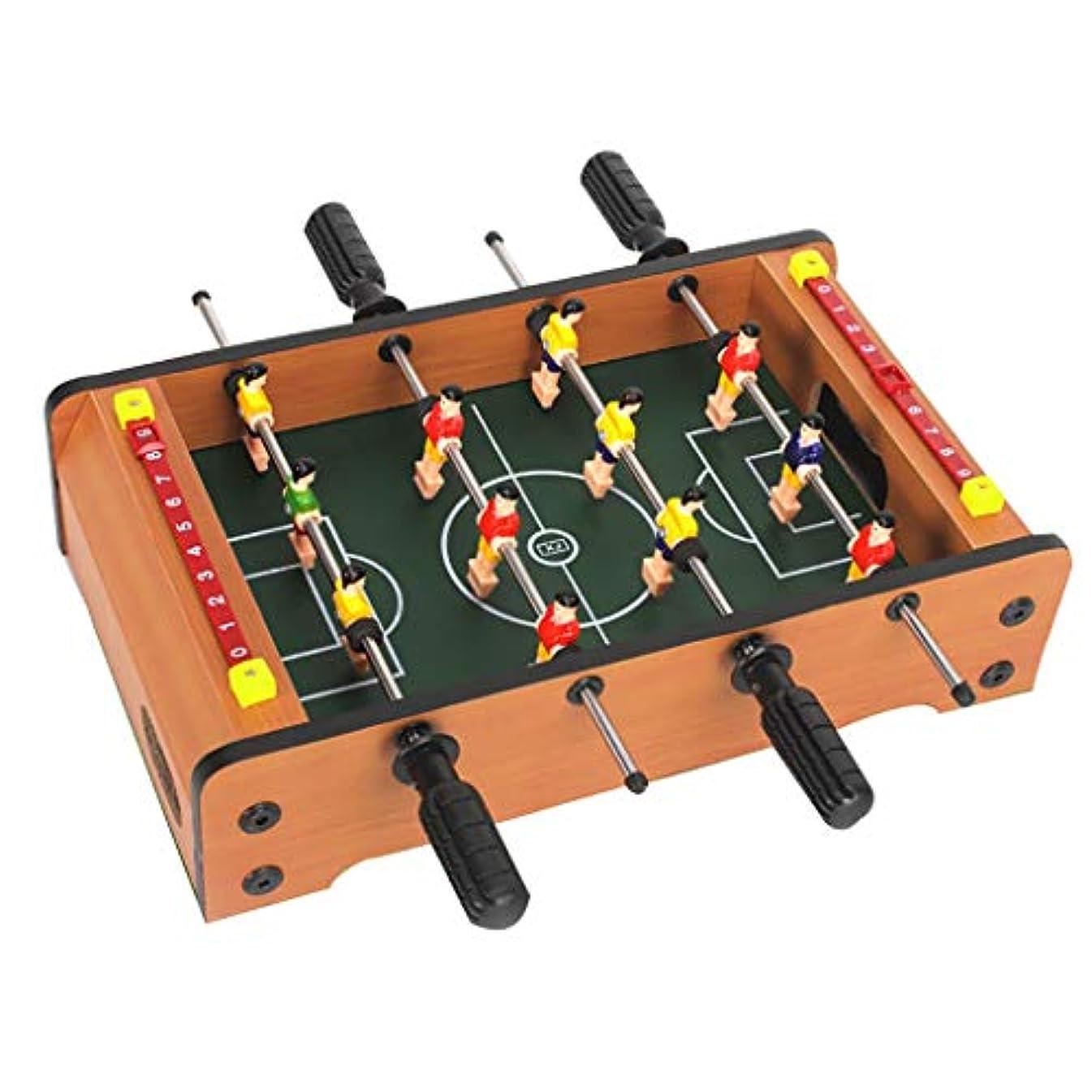 前置詞姿勢発揮するサッカーテーブルフーズボールテーブルテーブルゲームビリヤードテーブルサッカーゲーム減圧小道具パズルゲーム4歳以上に適した子供のためのギフト (Color : WOOD COLOR, Size : 50*25*15.5CM)