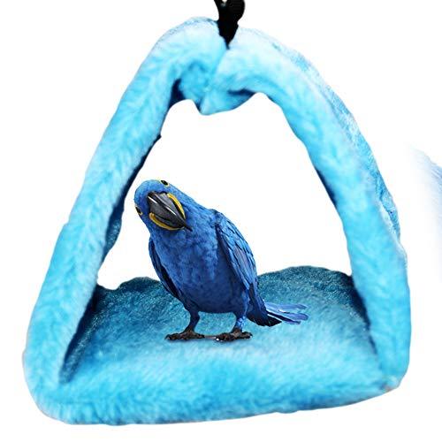 Creacom 三角ベッド ペットのハンギング ハンモック 小動物ベッド 鳥たちの寝床 三角ハウス 暖かい巣 おもちゃ ハムスター スナネズミ マウス ラット 小さなオウムのハンモック 寒さ対策 size L