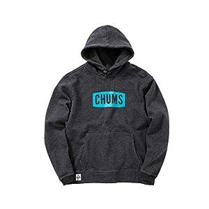 [チャムス] パーカー Chums Logo Pull Over Parka メンズ H/Black 日本 L (日本サイズL相当)