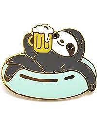 Noristudio Beer Sloth Enamel Pin for Sloth Lovers and Beer Lovers