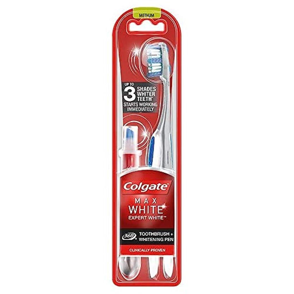 ダルセットモチーフ征服する[Colgate ] コルゲート最大白の専門家の歯ブラシ&ホワイトニングペン - Colgate Max White Expert Toothbrush & Whitening Pen [並行輸入品]