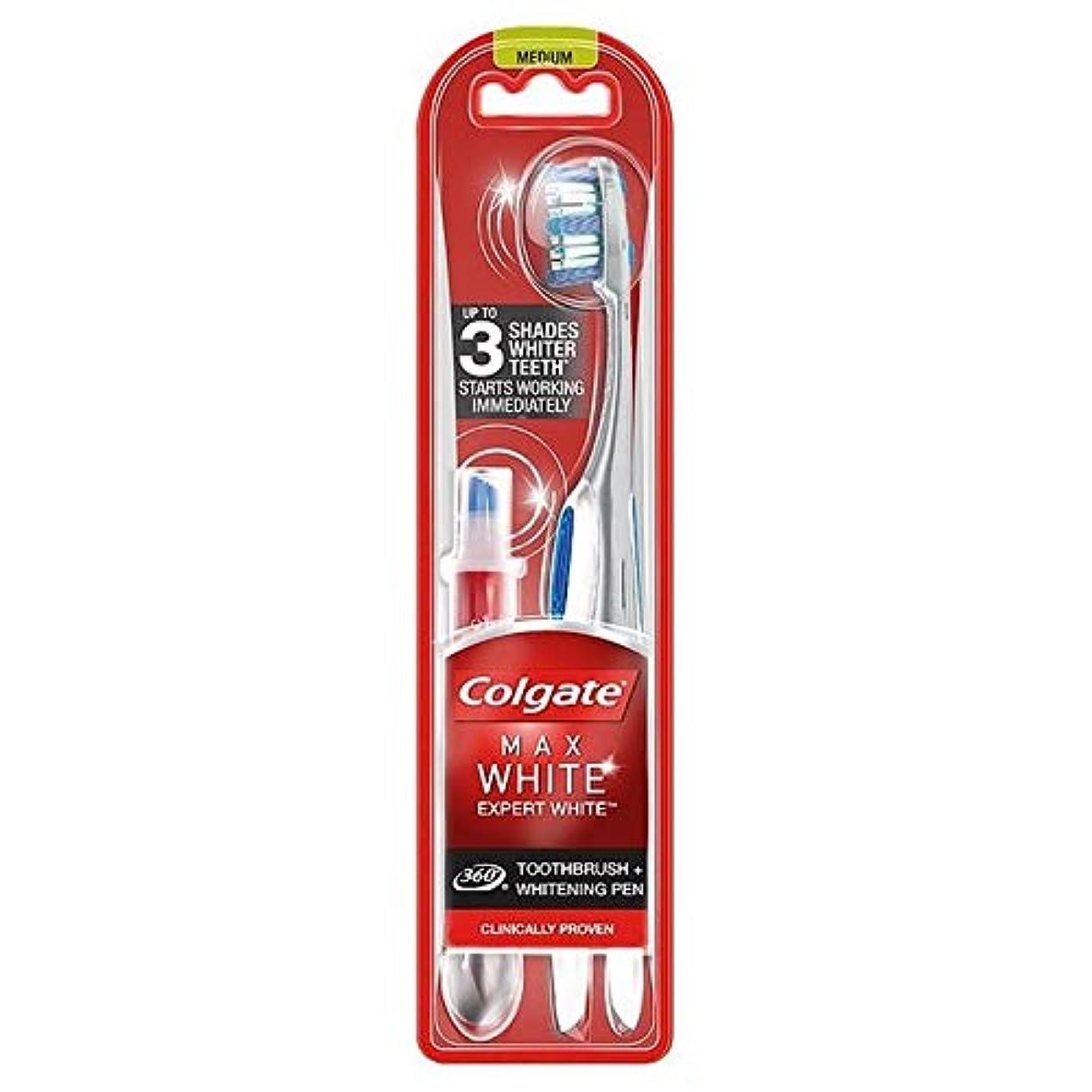 音狂乱後[Colgate ] コルゲート最大白の専門家の歯ブラシ&ホワイトニングペン - Colgate Max White Expert Toothbrush & Whitening Pen [並行輸入品]