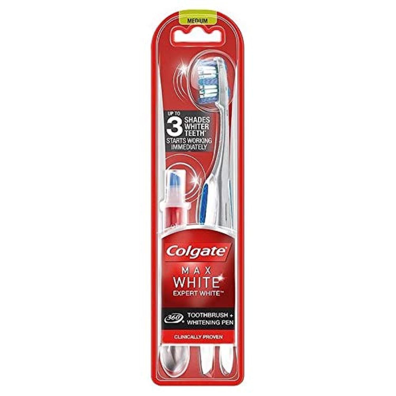 高度な順番無線[Colgate ] コルゲート最大白の専門家の歯ブラシ&ホワイトニングペン - Colgate Max White Expert Toothbrush & Whitening Pen [並行輸入品]