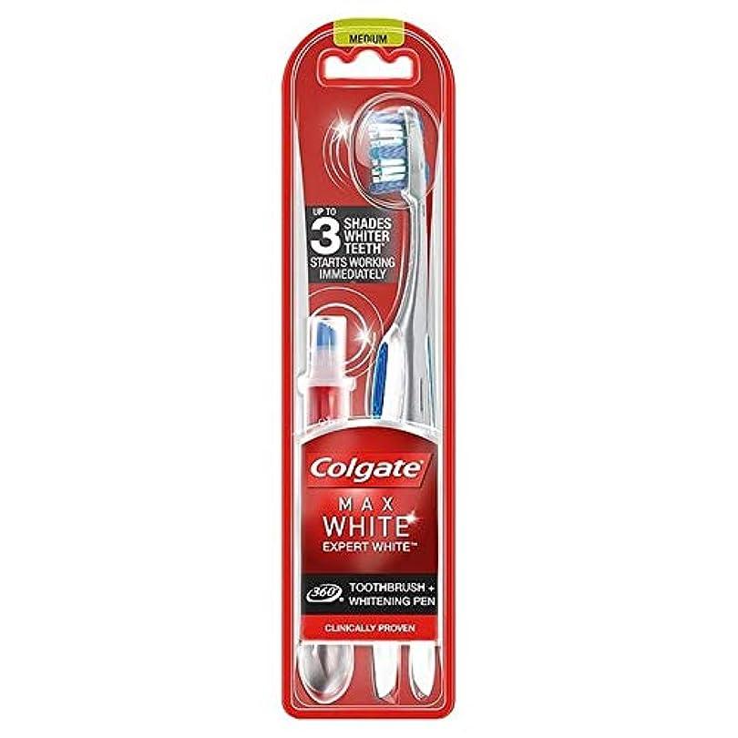 国旗バイソン複雑な[Colgate ] コルゲート最大白の専門家の歯ブラシ&ホワイトニングペン - Colgate Max White Expert Toothbrush & Whitening Pen [並行輸入品]