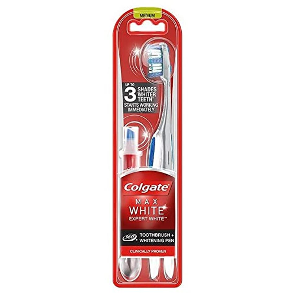 モーション雄大なに対して[Colgate ] コルゲート最大白の専門家の歯ブラシ&ホワイトニングペン - Colgate Max White Expert Toothbrush & Whitening Pen [並行輸入品]