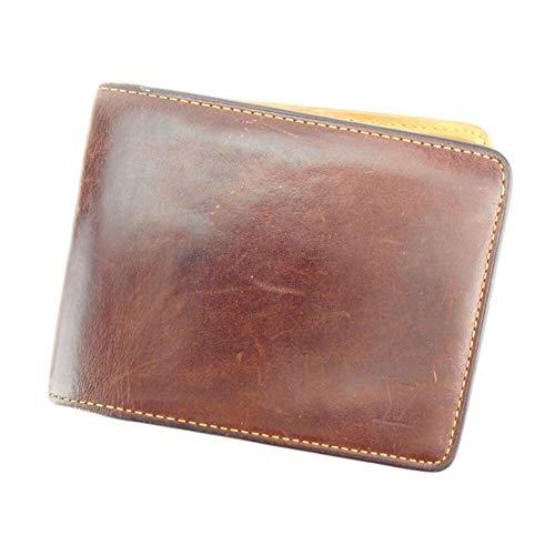 (ルイ ヴィトン) Louis Vuitton 二つ折り 札入れ ブラウン ベージュ ポルトビエ6カルトクレディ ノマド メンズ 中古 T8028