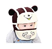 秋冬 赤ちゃん 子供 韓国風格 防寒 防風 暖かい 可愛い ニット帽子 雷鋒キャップ ベレー帽子 ハット 3-4歳 頭囲約46-54cm(ワインレッド)