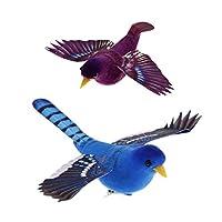 現実的な 鳥 工芸品 置物 ホーム キッチン インテリア 2ピース