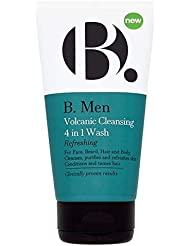 [B Men] B。 1回の洗浄の男性火山クレンザー4 - B. Men Volcanic Cleanser 4 In 1 Wash [並行輸入品]