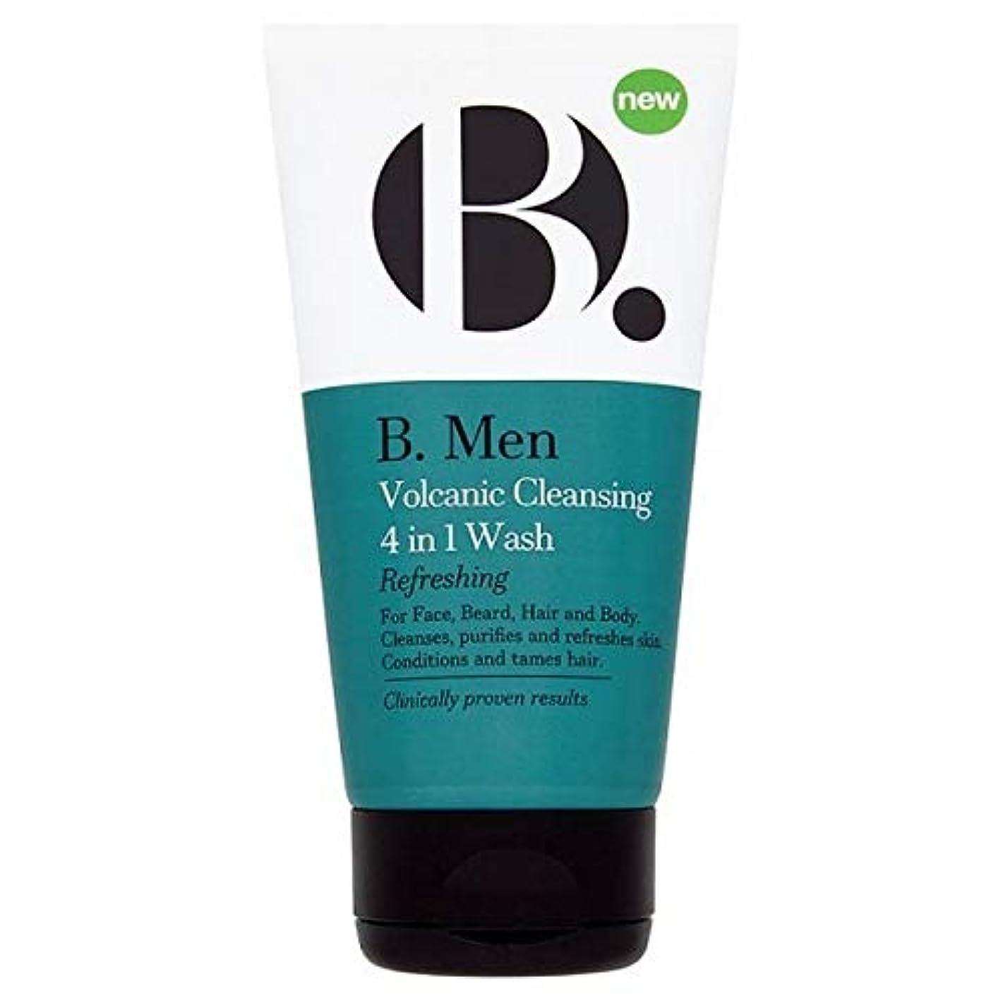 薬テキスト放置[B Men] B。 1回の洗浄の男性火山クレンザー4 - B. Men Volcanic Cleanser 4 In 1 Wash [並行輸入品]