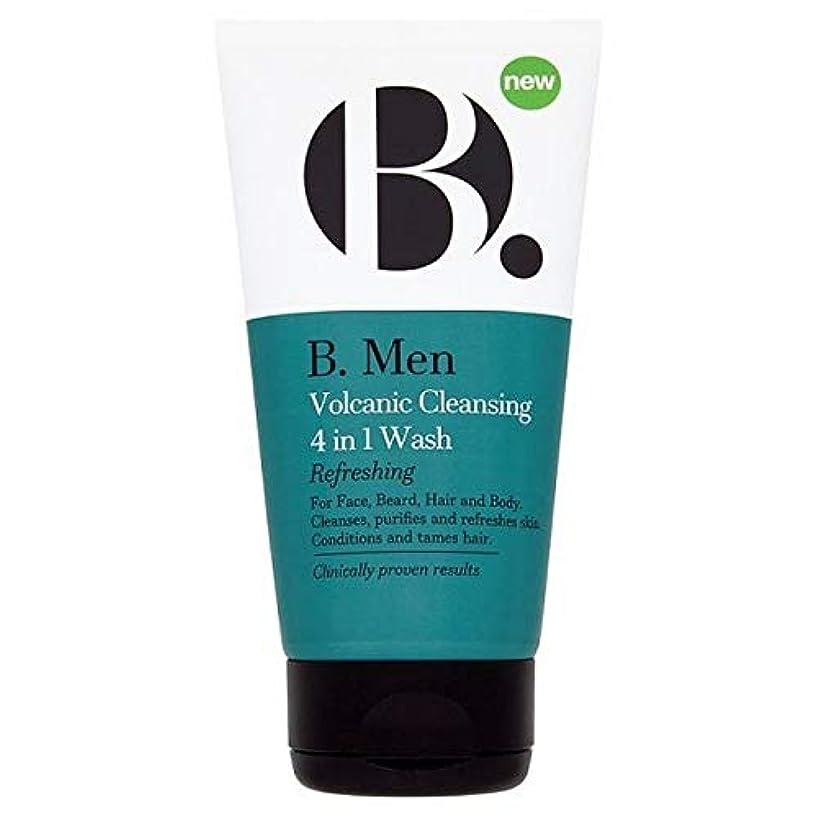 そのような認可ボタン[B Men] B。 1回の洗浄の男性火山クレンザー4 - B. Men Volcanic Cleanser 4 In 1 Wash [並行輸入品]