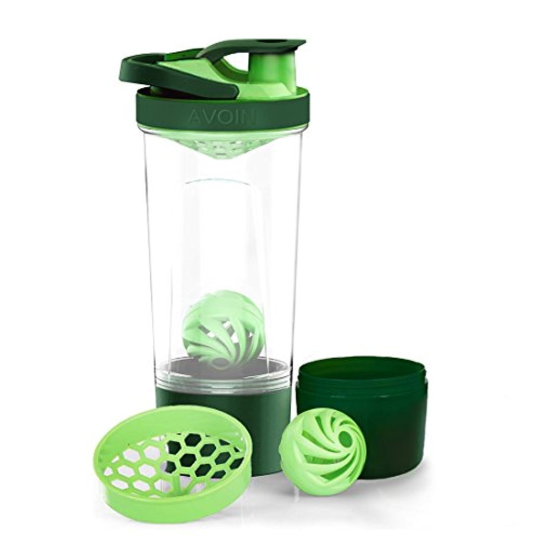 AVOIN colorlife スポーツボトル プロテインシェーカー ボトル プラスチック ウォーターボトル ジム ダイエット 直飲み 720ml