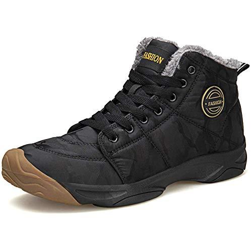 [Civitis] トレッキングシューズ メンズ スノーシューズ 迷彩柄 スノーブーツ 裏起毛 防滑 登山靴 ショートブーツ 軽量 通気性 防滑 冬靴 防寒対策 男女兼用 防水 アウトドアシューズ 厚底 雪靴 大きいサイズ 綿靴
