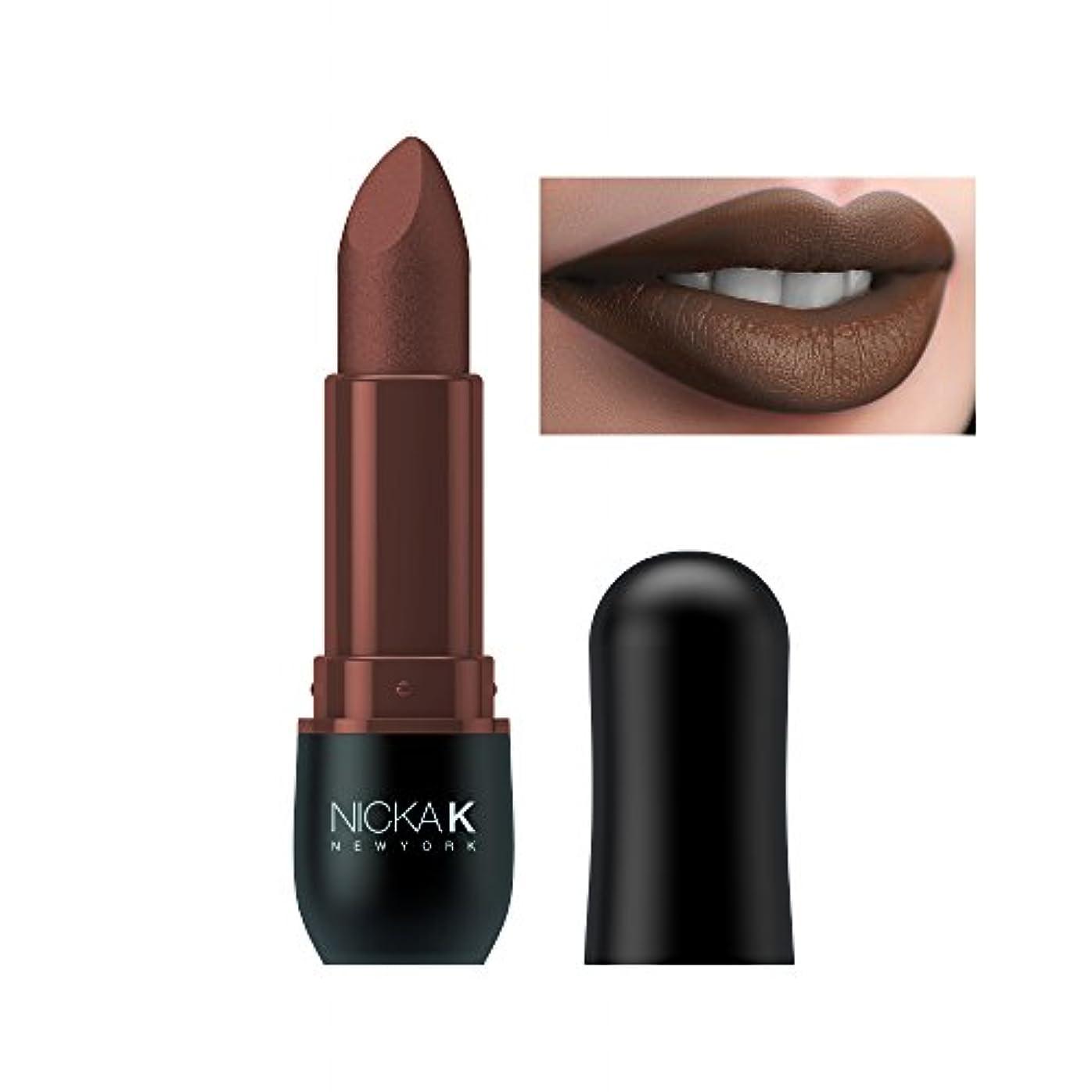 たらい地雷原無視できる(3 Pack) NICKA K Vivid Matte Lipstick NMS14 Maroon (並行輸入品)