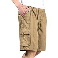 ハーフパンツ メンズ カーゴパンツ ショートパンツ ショーパン 短パン ゆったり 夏服 イージーパンツ ウエストゴム 父の日 ギフトおしゃれ コットン 綿 大きいサイズ XL~7L