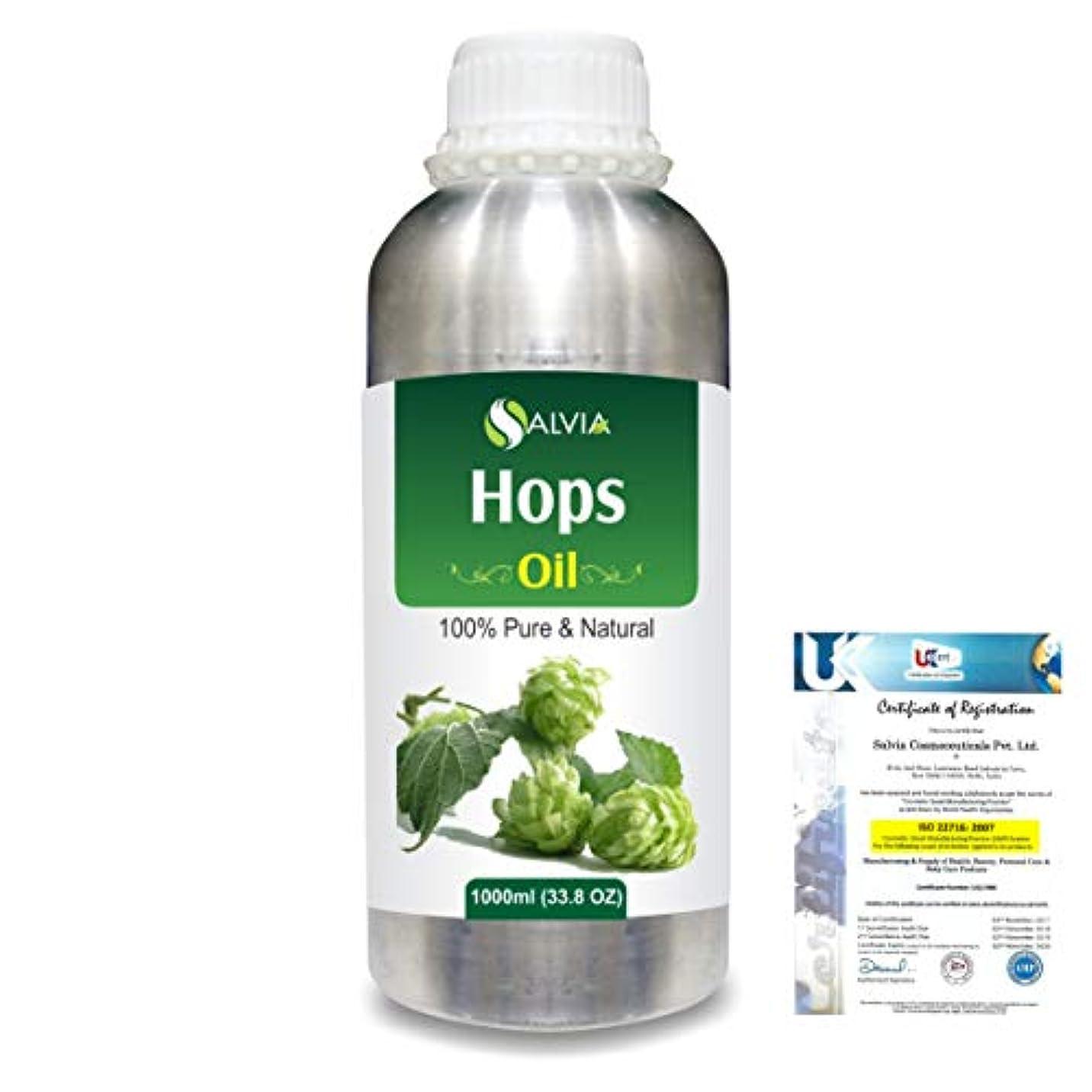 溶ける銀ボトルHops (Humulus lupulus) 100% Natural Pure Essential Oil 1000ml/33.8fl.oz.