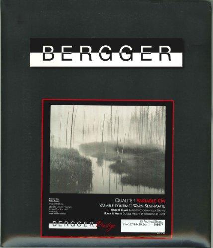 BERGGER プレステージ バリアブル CM 16×20インチ(25) バライタ 多階調 厚手 温黒調 マット PLES BRI CM 16×20(25)