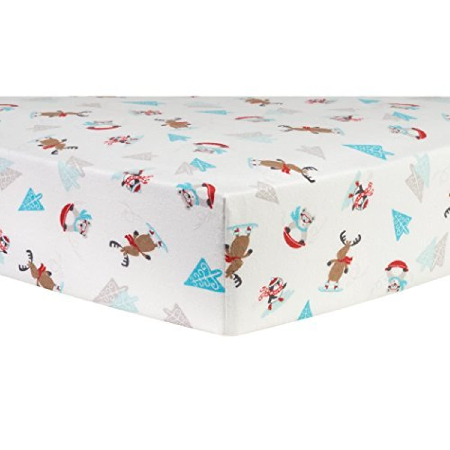 Trend Lab Frosty Fun Deluxe Flannel Fitted Crib Sheet [並行輸入品]