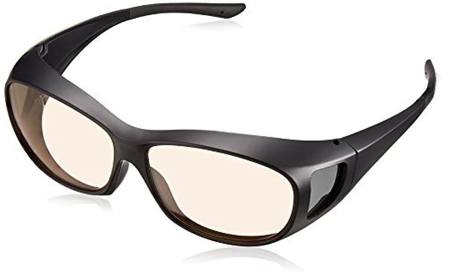 男らしい岸租界SEAGULL(シーガル) 運転用サングラス 薄色偏光レンズ 眼鏡対応 オーバーグラス DG 5003-1 マットブラック
