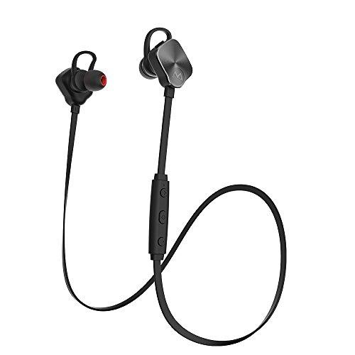Mpow Magneto スポーツイヤホン Bluetooth4.1ヘッドセット イヤーバッド マイク内蔵 ハンズフリー 通話 CVC6.0ノイズキャンセリング イヤーフック付き iPhone&Android スマートフォンなど対応【技適認証済み】【18ケ月の保証(故障品交換対応)】(改良版)MP-BH26D
