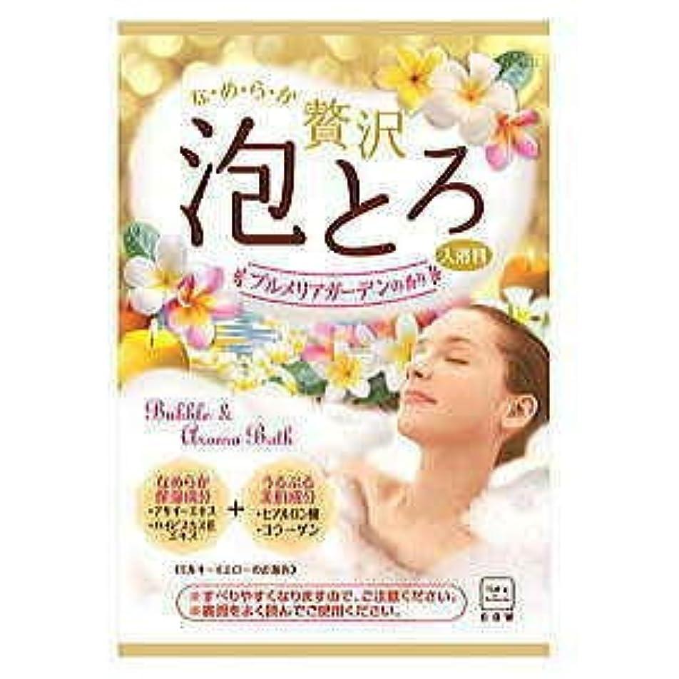 一般的な部分蓮牛乳石鹸 お湯物語 贅沢泡とろ 入浴料 プルメリアガーデン 30g 16個セット