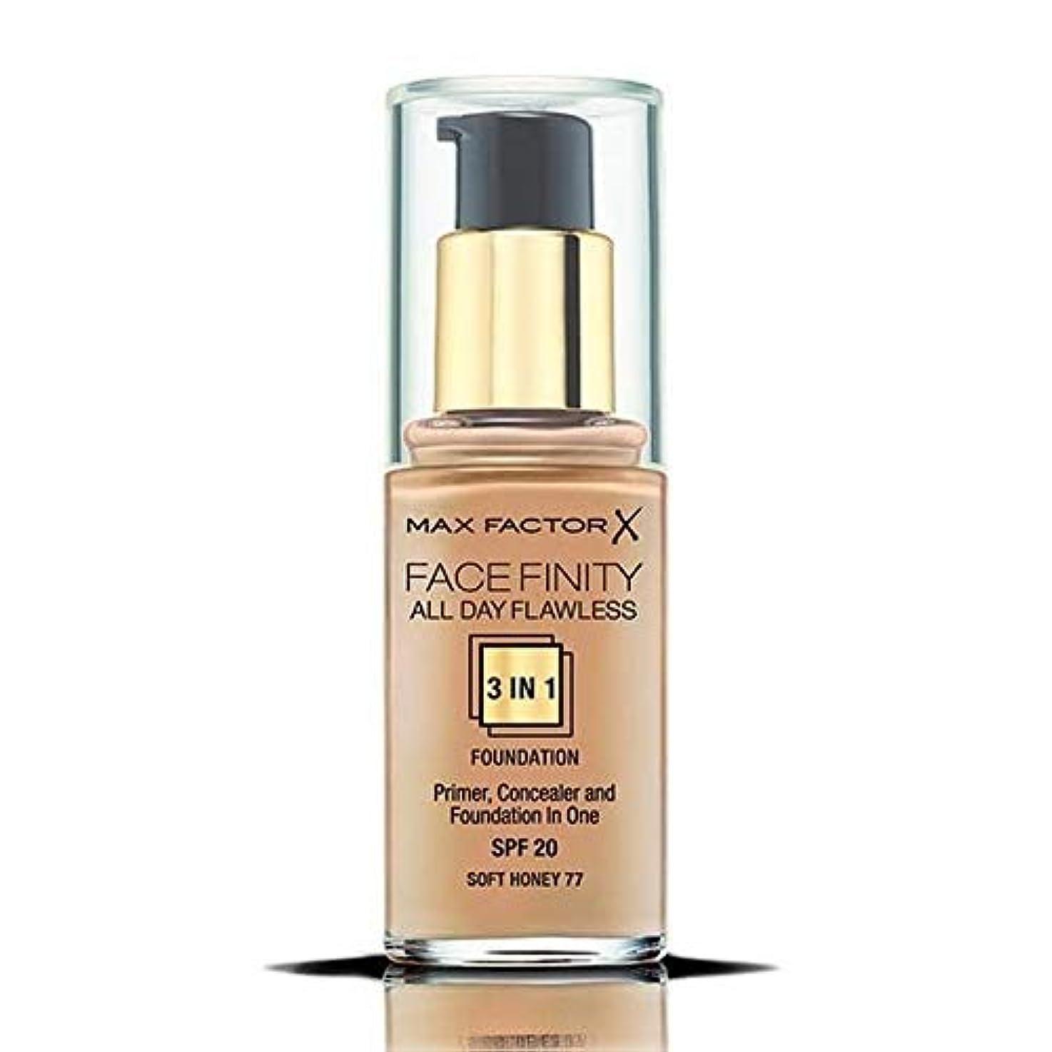 重なる膿瘍続ける[Max Factor ] マックスファクターのFacefinity 3-In-1の基盤ソフトハニー77 - Max Factor Facefinity 3-In-1 Foundation Soft Honey 77 [...