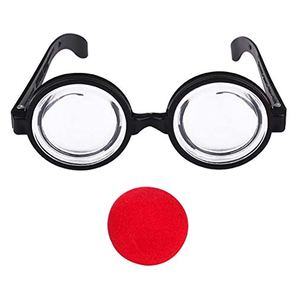手入れ一般化するワンダーKIICN ファッショナブル 赤いはな 面白い眼鏡おもちゃ パーティー 贈り物 屋内 スポンジ 小さい