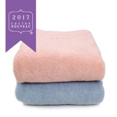コットンヌーボー2017 バスタオル ブルー 1枚(今治タオルのIKEUCHI ORGANIC 風で織るタオル)
