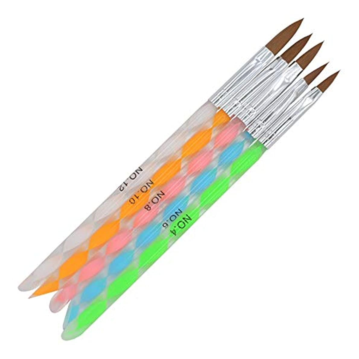 郊外足首荒涼としたYan 3個のPCSネイル連結ペンアクリルカラーロッド3Dクリスタルペン