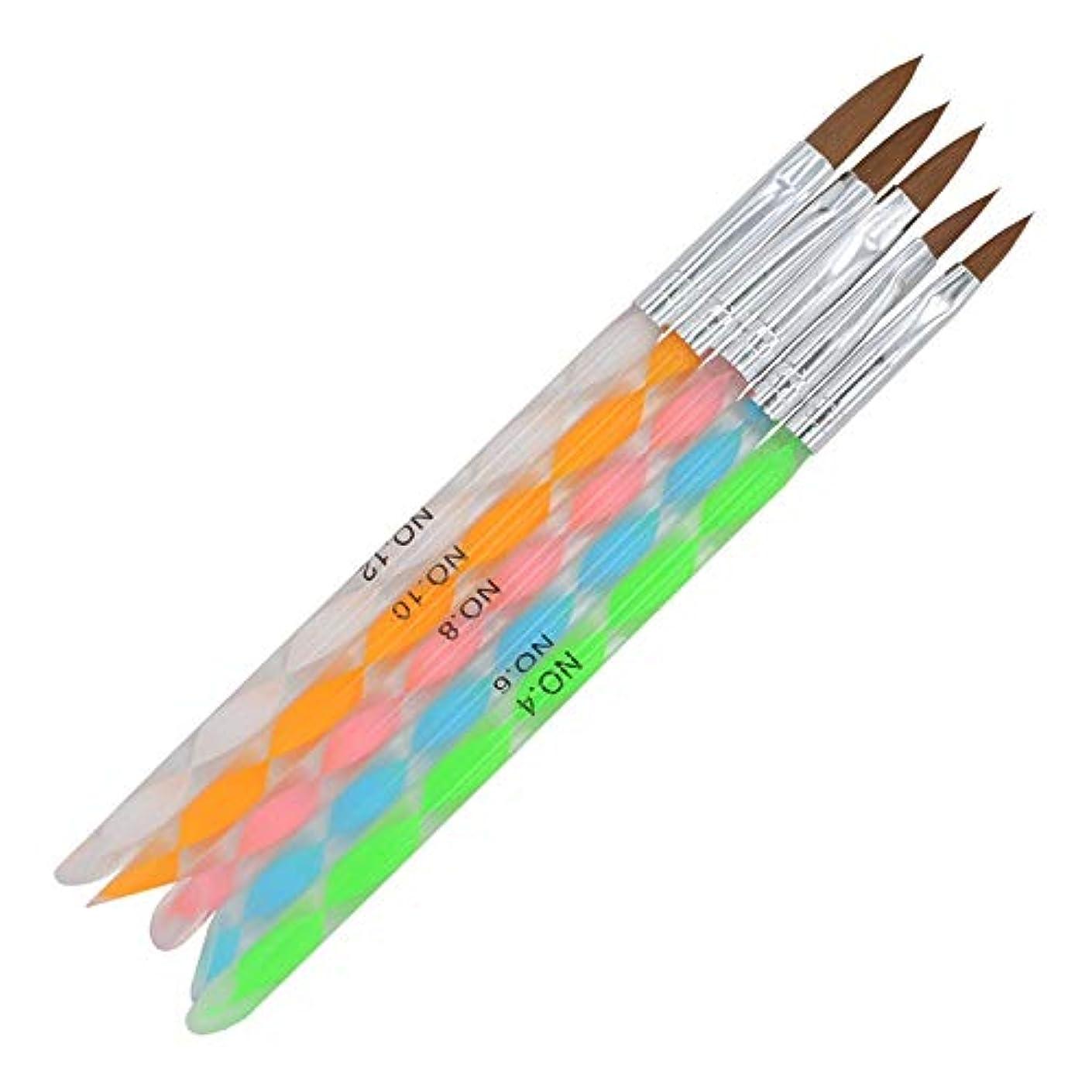 情緒的リズミカルな平らなYan 3個のPCSネイル連結ペンアクリルカラーロッド3Dクリスタルペン