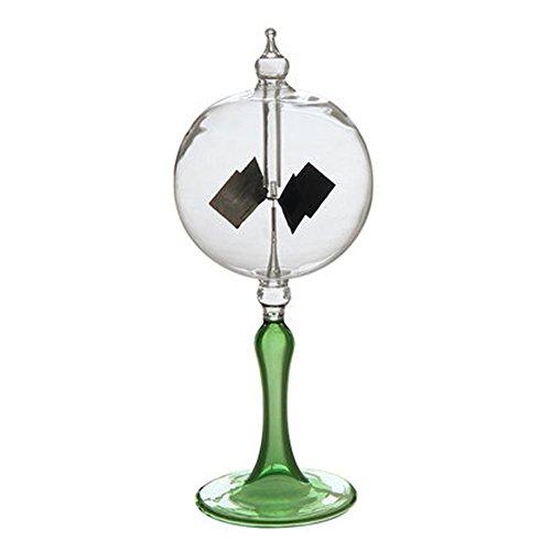 Scigeek ラジオメーター ソーラー風車 Solar Radiometer 永久機関 ホーム&オフィスデスクの装飾品 Lサイズ (緑)