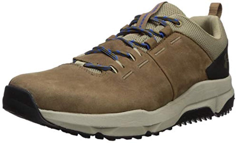 暖かく最小藤色Under Armour Men's Culver Low Waterproof Sneaker Hiking Shoe, Track Brown (200)/Barley, 12.5