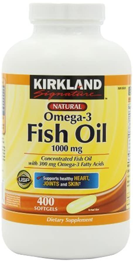 きらきら硬い醜いKirkland Signature Omega-3 Fish Oil Concentrate 1000 mg Fish Oil with 30% Omega-3s (300 mg)?つ, 1,200 SoftGels...