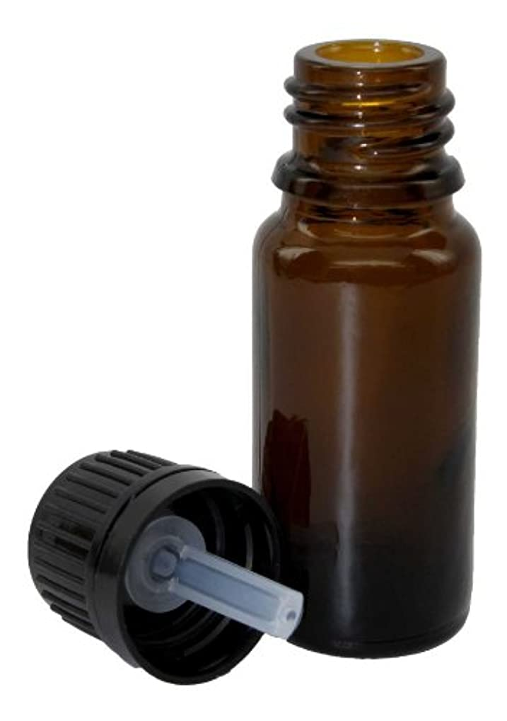 夏その後気味の悪い10ミリリットル(1/3オンス)アンバーグラスエッセンシャルオイルボトルワット/ヨーロッパドロッパーキャップ24パック