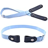 No Buckle Stretch Belt Women and Men, Invisible Adjustable Elastic Buckle Free Belt for Jeans