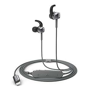 Anker SoundBuds Digital IE10 (ライトニング端子イヤホン)【ハイレゾ対応 / Apple MFi認証 / IPX3防水規格 / マイク内蔵】iPhone、iPad、 iPod各種対応 (グレー) A30110A1