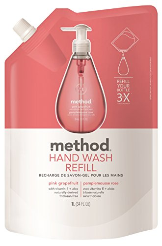 method(メソッド) ハンドソープ ジェルタイプ リフィル ピンクグレープフルーツ 1000ml