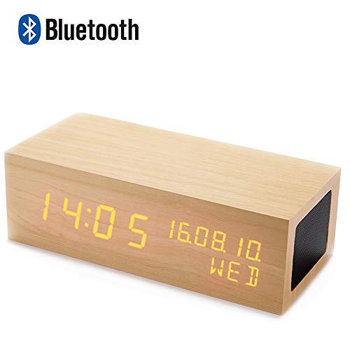 目覚まし時計 iitrust Bluetooth スピーカ付...