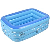 Pawaca 子供用プール家庭用 プール ファミリープール 水遊び 大人 子供 PVC素材  130CM